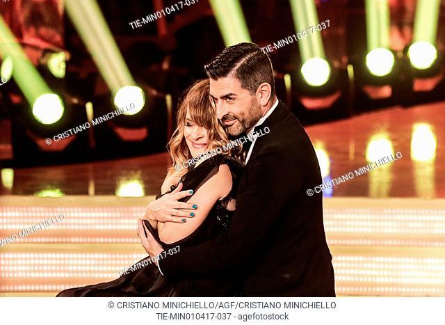 The actress Nastassja Kinski with the dance teacher Samuel Peron during the tv show Ballando con le stelle, Rome, ITALY-01-04-2017