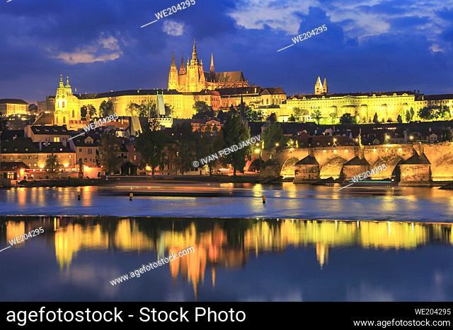 Prague at Dusk, Czechia