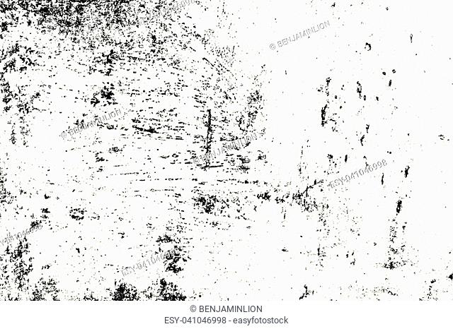 Distress urban used texture. Grunge rough dirty background. Brushed black paint cover. Overlay aged grainy messy template