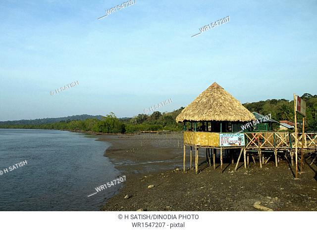 jetty of Baratang Andaman India Asia