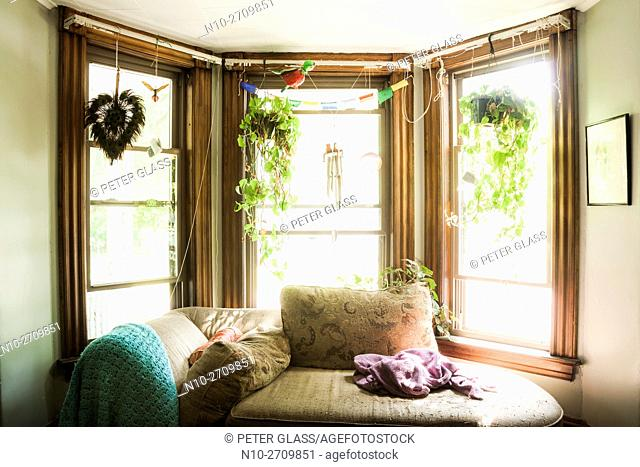 Living room in old house