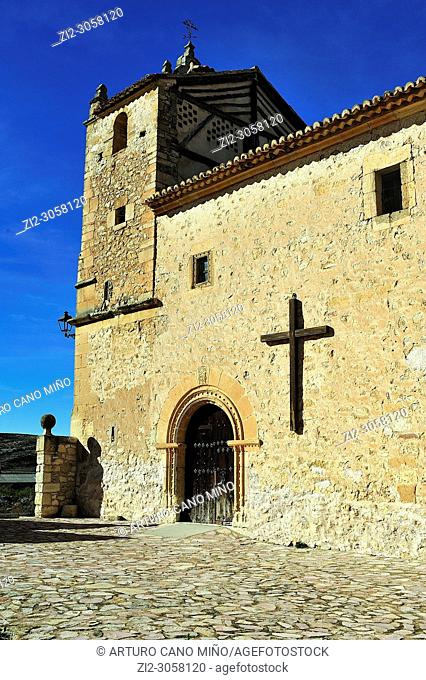The Castle (14th century). Embid town, Guadalajara province, Spain