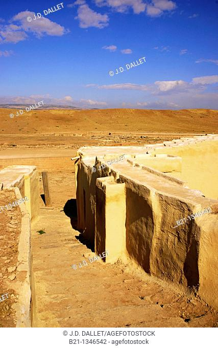 Syria, Ebla, stairs at the Royal Palace, 4.000-3.000 B.C