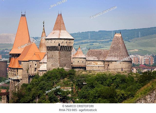 Gothic Carvin Castle, Hunedoara, Romania, Europe