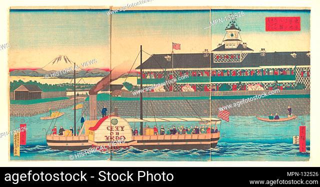 The Tsukiji Hotel in Tokyo (Tokyo Tsukiji hoteru kan). Artist: Utagawa Hiroshige III (Japanese, 1843-1894); Period: Meiji period (1868-1912); Date: 5th month