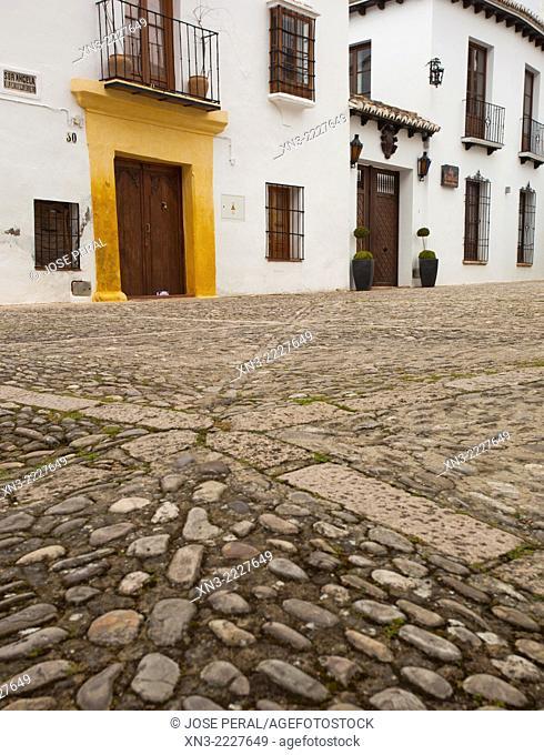 Sor Angela de la Cruz Street, Ronda, White Towns, Malaga province, Andalusia, Spain, Europe