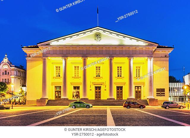 The Town Hall of Vilnius is located in the old town of Vilnius. The present building dates from the 18th century and was built in Classicist style by Laurynas...