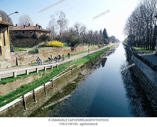 Naviglio Grande Lombardo, Cassinetta Lugagnano, Lombardy, Italy
