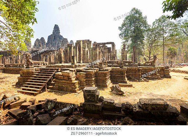 Ruins of the ancient Banteay Kdai monastery, Angkor (Wat), Cambodia