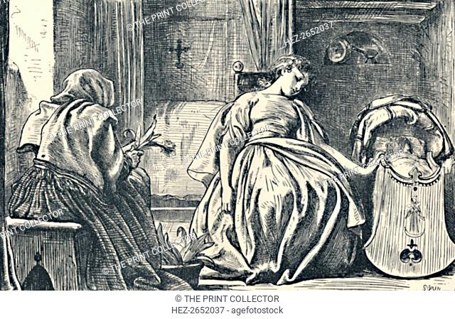 Tessa at Home. From George Eliot's Romola', 1862-63, (1923). Romola (1862-63) is a historical novel by George Eliot set in the fifteenth century