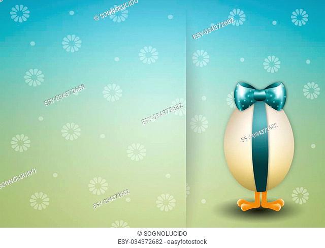illustration of Chick in egg for Happy Easter