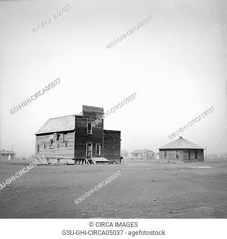 Dust Storm, Boise City, Oklahoma, USA, Arthur Rothstein, Farm Security Administration, April 1936