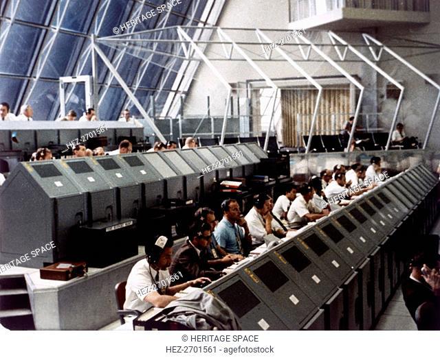 Launch Control Center in the John F Kennedy Space Center, Florida, USA, July 1969. Creator: NASA