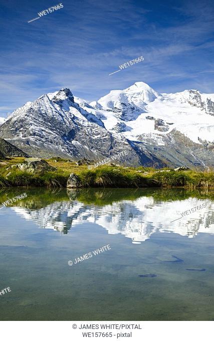 Allalinhorn - 4027m, mountain lake, Switzerland