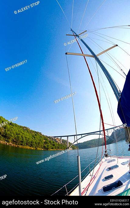 Sailing in the Krka River