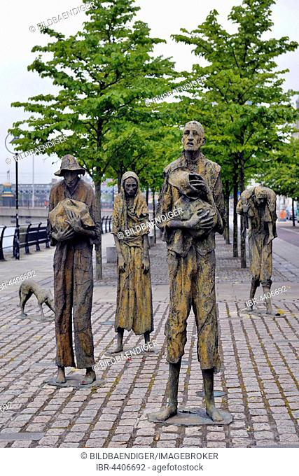 Famine Memorial commemorating Ireland's Great Famine, designed by Rowan Gillespie, Dublin, Ireland