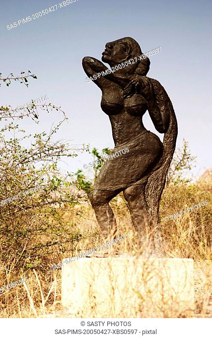Statue in a garden, Garden of Five Senses, Saidul Ajaib, New Delhi, India