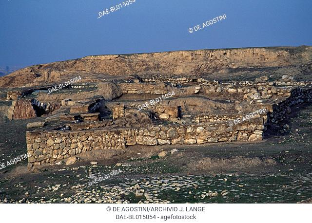 Archaeological ruins in Assur or Qal'at Shirqat (Unesco World Heritage List, 2003), Iraq. Assyrian civilisation, 25th-7th century BC