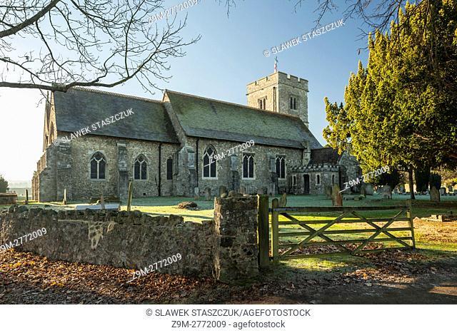 Autumn morning in Aylesford village, Kent, England