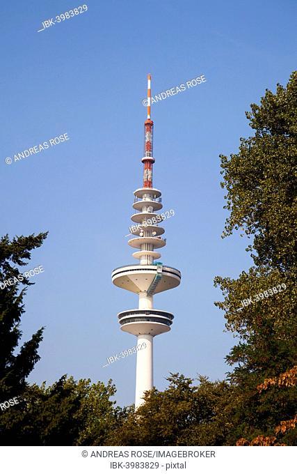 Hamburg TV Tower, Heinrich-Hertz-Turm, radio telecommunication tower, Hamburg, Germany