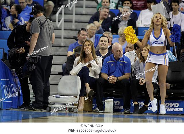 Saturday December 16, 2017; Caitlyn Jenner out at the UCLA game. The Cincinnati Bearcats defeated the UCLA Bruins by the final score of 77-63 at Pauley Pavilion...