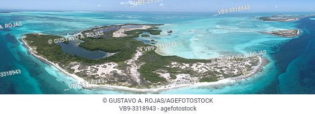 Aerial View rabusky Archipelago Los Roques Venezuela,