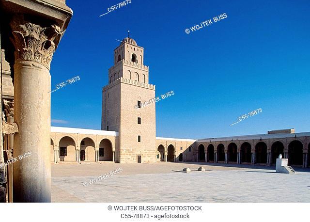 Tunisia. Qairouan. Grand mosque. Djama sidi oqba