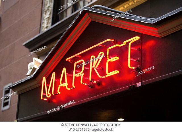 Market restaurant, Broad St. , Boston, Massachusetts, USA