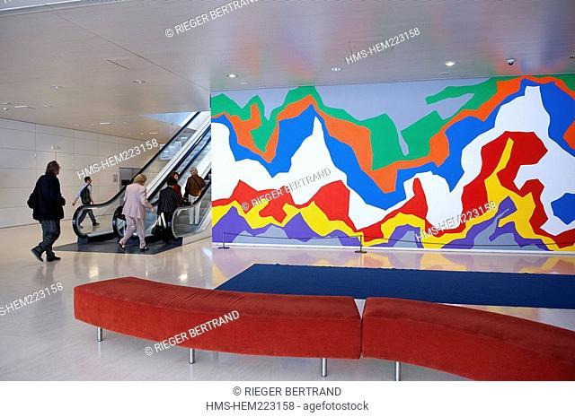 Spain, Catalonia, Barcelona, Art Contemporary Center in Caixa Forum