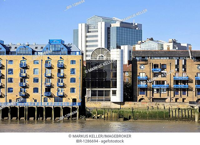 Former store houses of the Docklands, transformed into residences, London, England, United Kingdom, Europe