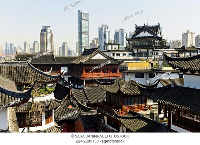 View of Old Town, Hangpu District, Shanghai, China, Asia