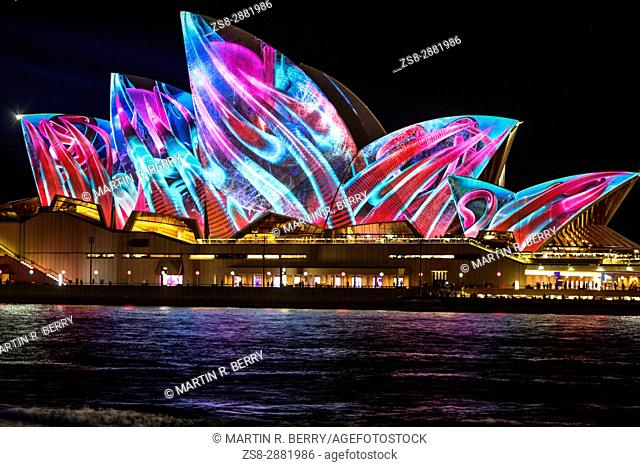 Sydney,Australia,Tuesday 30th May 2017. Vivid Sydney light show at Circular Quay