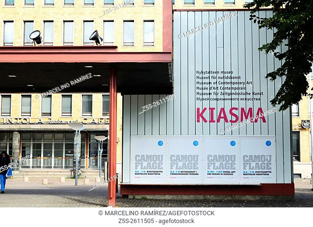 Kiasma is a contemporary art museum located on Mannerheimintie in Helsinki, Finland