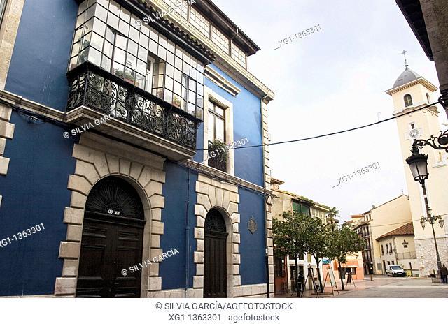 Street of Ribadesella, Asturias, Spain