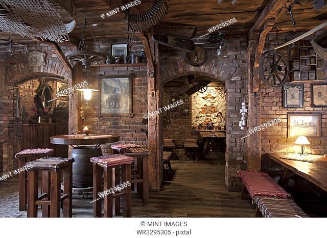 Rustic Restaurant Seating