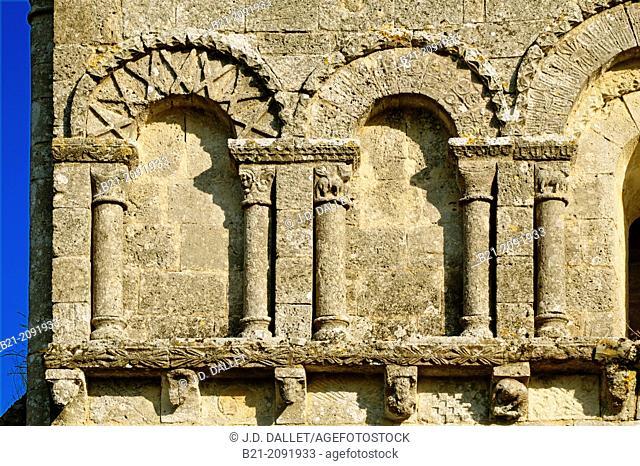 12th century Romanesque church, Carsac de Gurson, Dordogne, Aquitaine, France