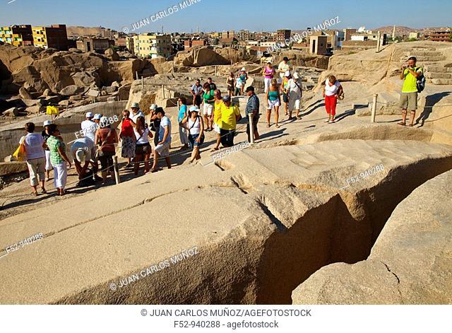 Unfinished Obelisk. New Empire. Aswan. Nile Valley. Egypt