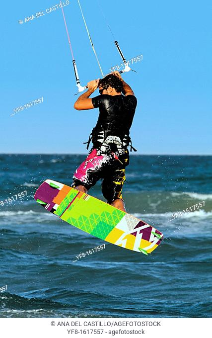 Kite surfing Cullera beach Spain