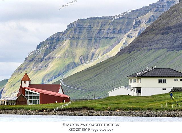 Island Bordoy and Vidoy are connected by a causeway,with village Norddepil and Hvannsund locanted on either side. Nordoyggjar (Northern Isles) in the Faroe...