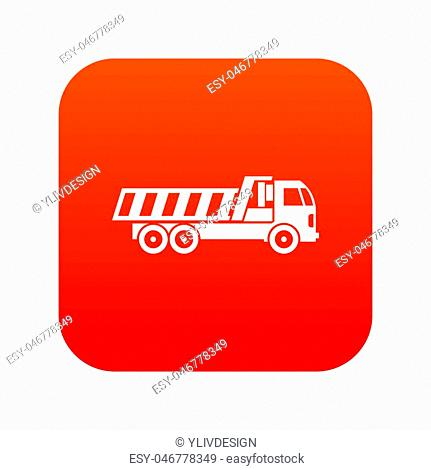 Machinery icon digital red for any design isolated on white illustration