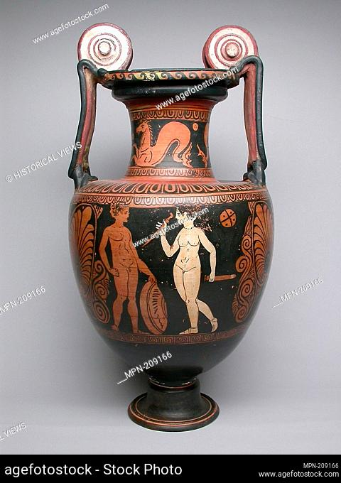 Amphora (Storage Jar) - 4th century BC - Faliscan; Latium, Italy - Artist: Ancient Greek, Origin: Central Italy, Date: 400 BC–301 BC, Medium: Terra-cotta