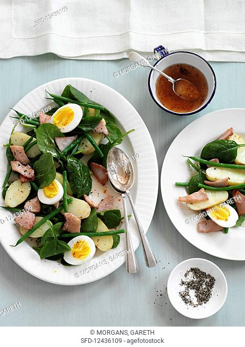 Nice salad with egg