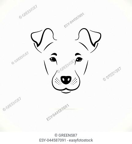 Portrait of Manchester terrier. Black and white icon. Vector illustration