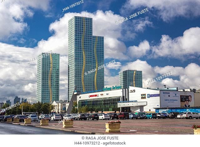 Astana, City, Gran Alatau, Kazakhstan, Central Asia, Summer, architecture, colourful, downtown, shopping center, touristic, towers, travel