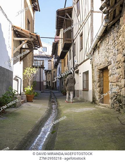 Typical street. Villanueva de la Vera. Cáceres. Extremadura. Spain
