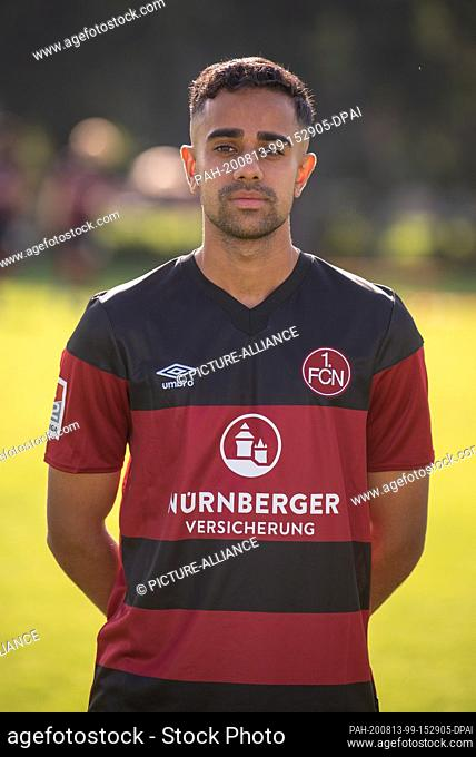 13 August 2020, Bavaria, Nuremberg: Football, 2nd Bundesliga: 1st FC Nuremberg - Nuremberg's Sarpreet Singh at the official photo session for the 2020/2021...