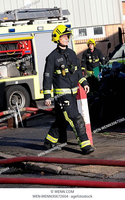 Over 70 firefighters along with 10 engines tackle a blaze in an industrial unit on Bernard Road, Seven Sisters, Tottenham in North London