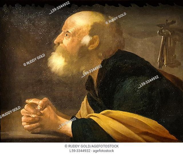 'The Penitent Saint Peter', 1616, Hendrick ter Brugghen (1588-1629)