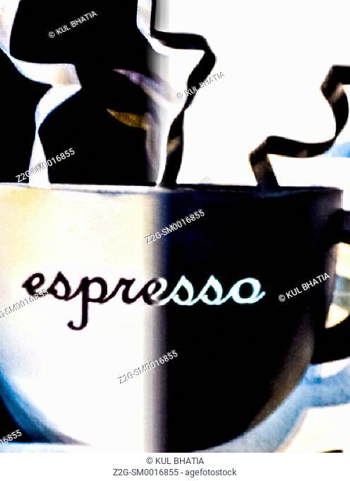 A simple sculpture symbolizing great coffee, Ontario, Canada