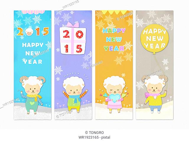 a template related to the Chinese new year 2015